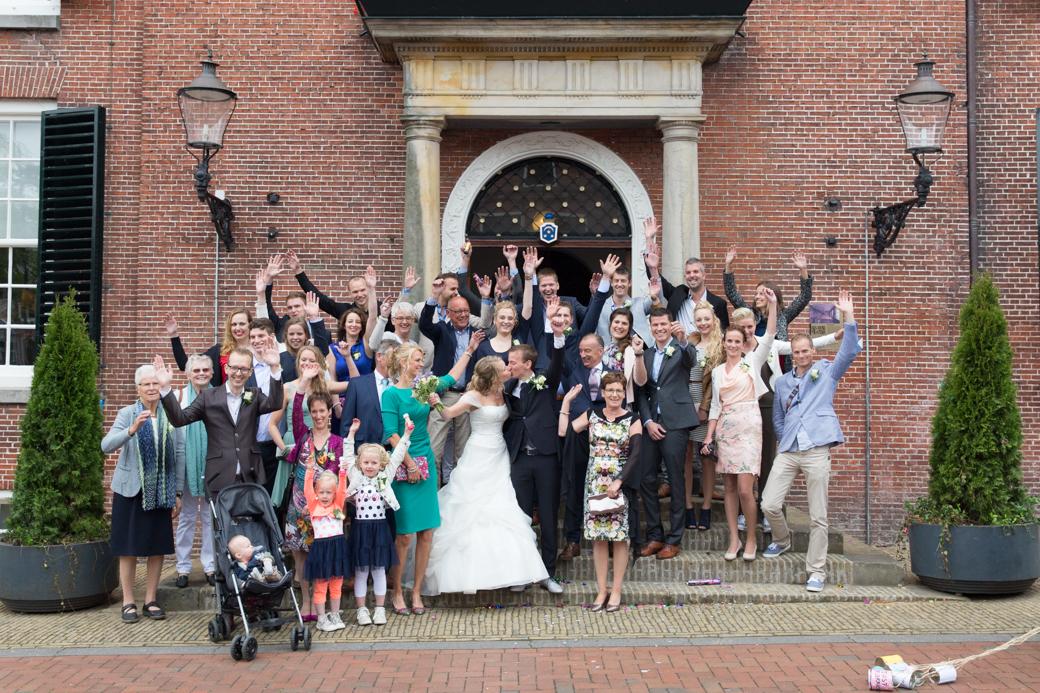 Pas getrouwd bij het Stadhuis in Dokkum