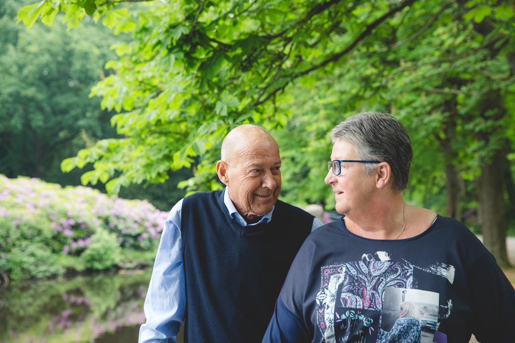 Voor Roel en Anneke is het Stadspark in Groningen een bijzondere fotolocatie. 42 jaar geleden lieten zij er ook foto's maken, op hun trouwdag.