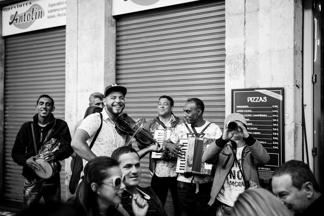 Straatmuzikanten in Barcelona