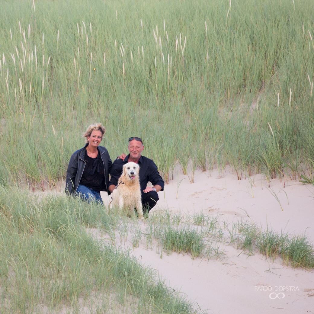 Familieportret met hond