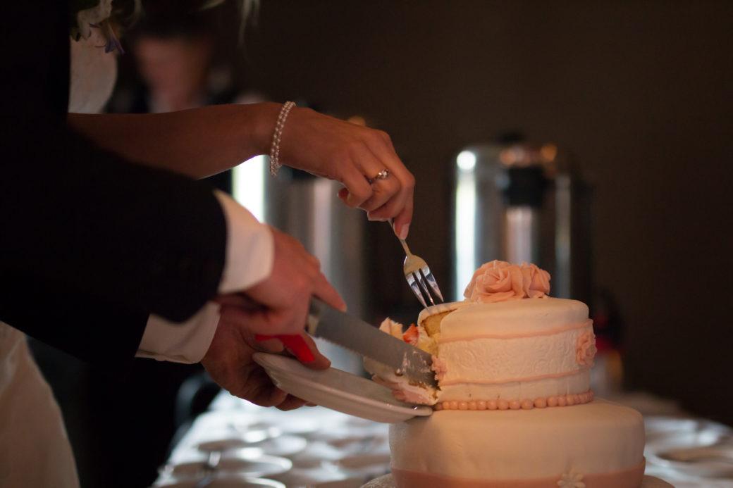 Er was een prachtige en heerlijke bruidstaart!