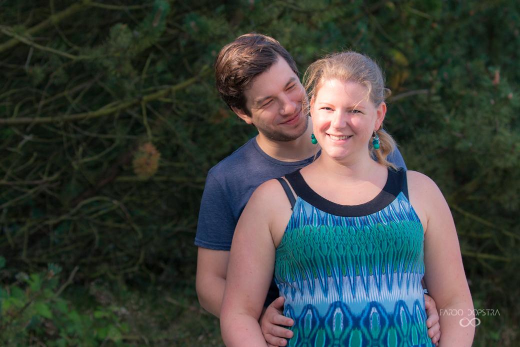 Zwanger stel fotografie Gasselte