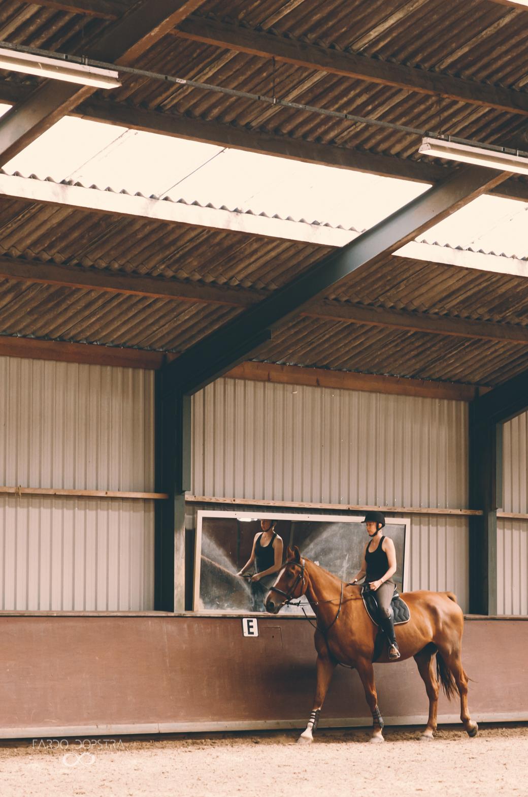 Fotoshoot paard Manege