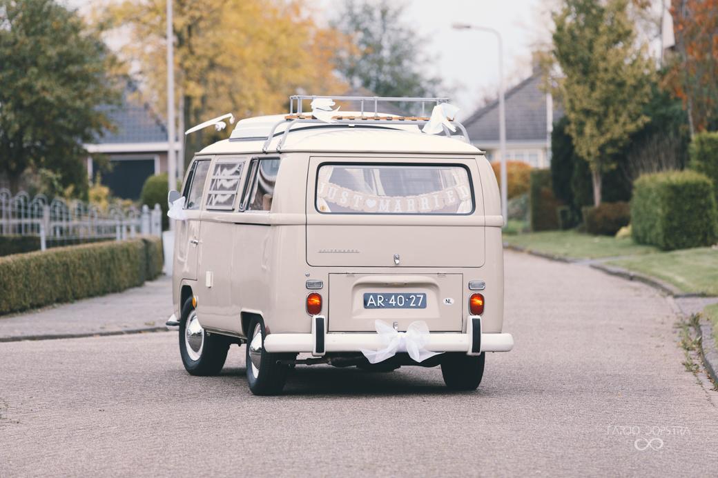 Trouwauto huren VW busje