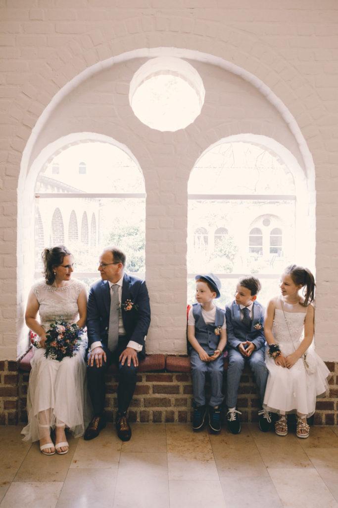 Bruidspaar met Kinderen in Leerhotel 't Klooster Amersfoort
