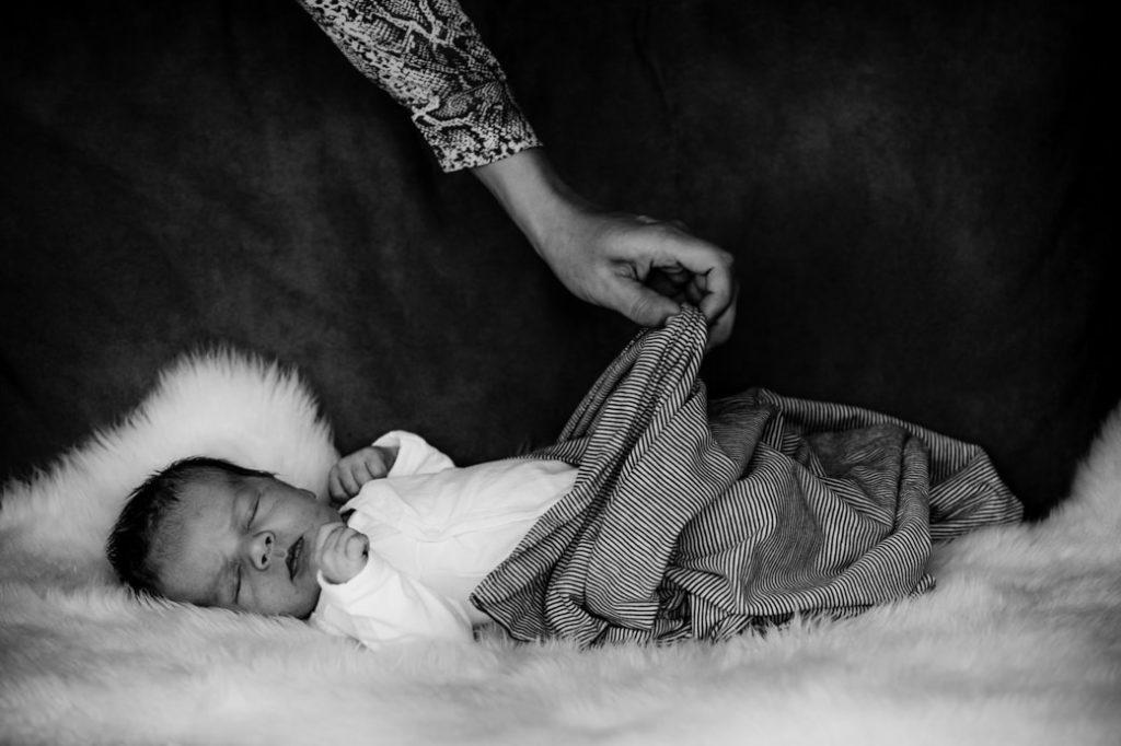 Foto van slapende baby