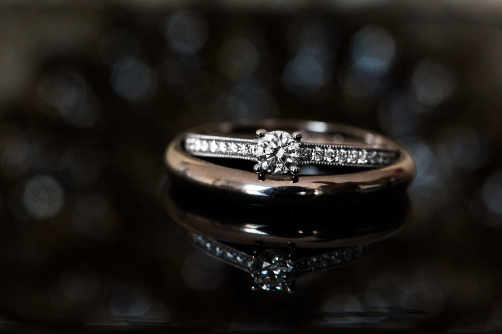 Macrofotografie trouwringen